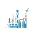 modern industrial building isolated icon vector image vector image