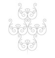 monochrome image of a fragment of fence vector image vector image