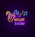 night show neon sign vector image
