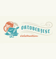 oktoberfest flyer or banner retro typography vector image