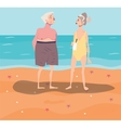 old-aged couple having rest vector image