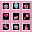 party stamps vector image vector image