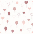 pink and yellow balloons vector image