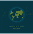 planet earth in flat style vector image vector image