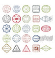 postal stamps set colored vector image vector image