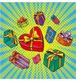 Presents and gifts boxes in vector image vector image