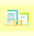 print advertising newspaper and booklet promotion vector image vector image