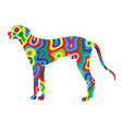 rainbow dog 1 vector image vector image