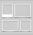 realistic empty photo card frame film set retro vector image