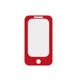 red phone on ilustration on white vector image vector image