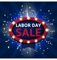 Retro symbol for labor day sale vector image