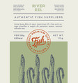 river fish abstract packaging design or vector image vector image