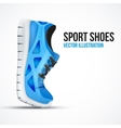 Running curved green shoes Bright Sport sneakers vector image vector image