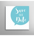 Save the date phrase lettering vector image vector image