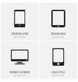 set of 4 editable devices icons includes symbols vector image vector image