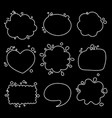 set of different shapes of thought bubbles round vector image