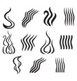 set of different smoke icons vector image