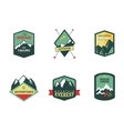 Set of vintage woods camp badges and travel logo vector image vector image
