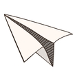 silhouette monochrome with paper plane vector image