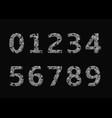 silver broken numbers vector image vector image