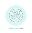 sugar free icon line element vector image