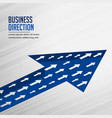 team growth arrow business concept background vector image vector image