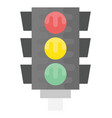 traffic light flat icon vector image