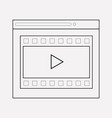 video content icon line element vector image vector image