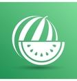watermelon icon logo natural delicious dessert vector image vector image