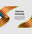 waving ribbon or banner with flag communities vector image vector image