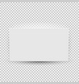 white blank model template top view with shadow vector image vector image