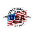happy independence day usa celebration rough vector image