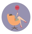 woman business say no show sign vector image
