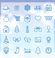 25 new year icons vector image vector image