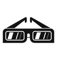 3d glasses icon simple style vector image
