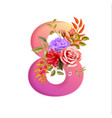 8 march international women day holiday flower vector image vector image