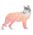 a cartoon wolf stylized wolf vector image