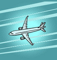 aircraft air transport blue background vector image vector image