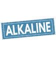 alkaline sign or stamp vector image