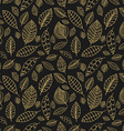 Black and gold seamless pattern with leaves Styles vector image vector image