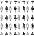 black and white seamless christmas pattern - vector image vector image
