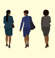 black business woman walk away vector image vector image