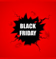 black friday sale banner cracked hole vector image
