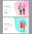 boyfriend and girlfriend relationship love vector image vector image