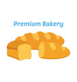 bread whole grain loaf cartoon flat style vector image
