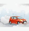 car air pollution vector image