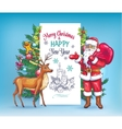 Christmas invitation card template vector image vector image