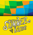 colored summer time background vector image
