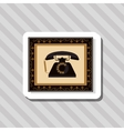 colorful retro phone design vector image vector image