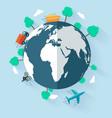 concept delivering goods worldwide flat design vector image vector image